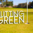 Putting green Golf course design background — Stock Photo #35738171
