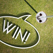 Win on Putting green Golf course design background — Stock Photo