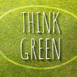 Think green poster illustration of eco-friendly life — Stock Photo