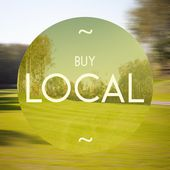 Buy local poster illustration of business — Stock Photo