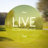 Live ecologically poster illustration of natural life — Stock Photo