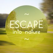 Escape into nature poster illustration of eco-friendly life — Stock Photo