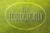 Live ecologically poster illustration of eco-friendly life — Stock Photo