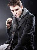 Man smoking electronic cigarette — Stock Photo