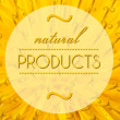 Foto Stock: Natural products with flower macro background
