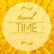Foto Stock: Travel time concept with flower macro background