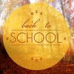 Back to school Autumn conceptual creative illustration — Stock Photo