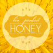 Stockfoto: Bio product honey concept with flower macro