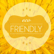 Eco friendly with flower macro background — 图库照片 #36189361