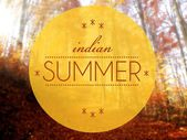 Indain summer Autumn conceptual creative illustration — Stock Photo