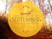 Měsíc září podzimní kreativní ilustrace — Stock fotografie