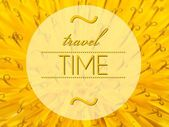 Travel time concept with flower macro background — Stok fotoğraf