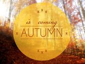 Autumn is coming conceptual creative illustration — Stock Photo