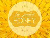 Bio product honey concept with flower macro — Stock Photo