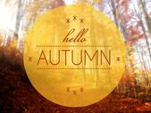 Hello Autumn conceptual creative illustration — Stock Photo