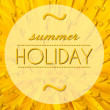 Foto de Stock  : Summer holiday with flower macro background