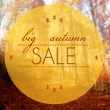 Big autumn sale conceptual creative illustration — Stock Photo