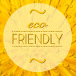 Foto Stock: Eco friendly with flower macro background