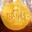 Give thanks Autumn conceptual creative illustration — Stock Photo