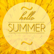 Stock Photo: Hello summer with flower macro background