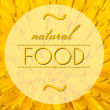 Natural food concept with flower macro background — Zdjęcie stockowe #36191901