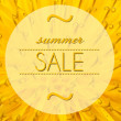 Foto Stock: Summer sale with flower macro background