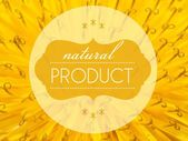 Natural products concept with flower macro background — Stock Photo