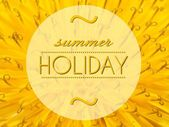 Summer holiday with flower macro background — Stock Photo