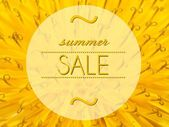 Summer sale with flower macro background — Stock fotografie