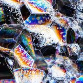 Soap bubbles abstract colorful macro structure — Stock Photo