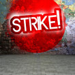 Graffiti wall with Strike, urban art — Stock Photo #38334009