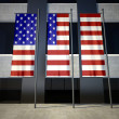 USA flag in front of building — Stock Photo
