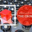 Stand out from the crowd unique concept — Stock Photo