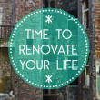 Stock Photo: Time to renovate your life new beginning