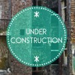 Under construction, new beginning concept — Stock Photo