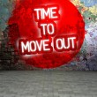 Graffiti wall with Time to move out message, urban art — Stock Photo #38336173