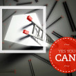 Yes You Can with top of ladder, unique concept — Stock Photo #38336625