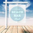 Beach bar concept poster on summer background — Stock Photo