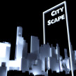 Photo: City scape concept 3d Urbdevelopment