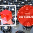 Stock Photo: Make difference business, unique concept