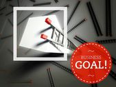 Business goal and top of ladder, success concept — Stock Photo