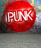 Graffiti wall with Punk, urban art — Stock Photo
