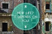 New life depends on you, new beginning — Stock Photo