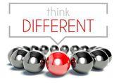 Think different, business unique concept — Stock Photo