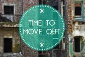Time to move out new beginning, concept — Stock Photo