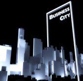 Business city concept 3d Urban development — Stock Photo