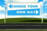 Choisissez votre propre chemin, concept — Photo