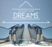 Follow your dreams concept with stairs — Stock Photo