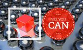 Yes you can business concept — Stock Photo