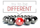 Try to be different business, unique concept — Stock Photo